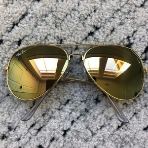Gold Mirrored Ray-Ban Sunglasses Ray Ban